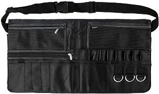 Makeup Apron - LALATECH Professional Zipper Makeup Artist Apron - Cosmetic Portable Makeup Brush Bag with Artist Belt Strap for Women, Black