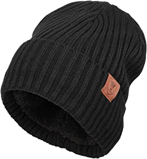 Winter Daily Beanie Stocking Hat - Warm Polar Fleece Skull Cap for Men and Women Purple/Gray/Black