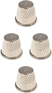 Hand Sewing Thimble - Pack of 4 - Stainless Steel Thimble - Tailor Protection Small Tool