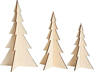 DIY Unfinished Wood 3D Stand Up Trees (Set of 3)