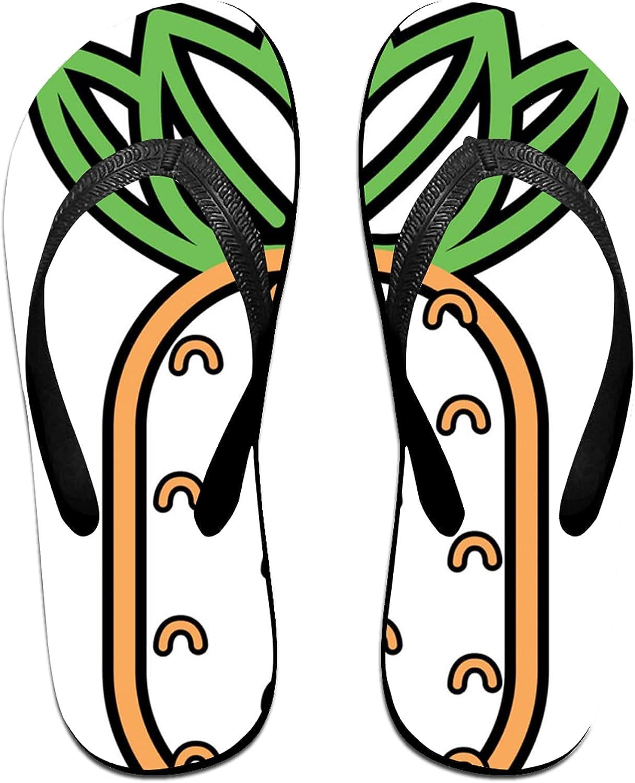 pineapple fruit Flip-Flop Sandals for Summer Beach, Slippers for Men Women