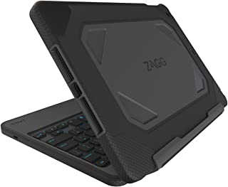 ZAGG Rugged Book Durable Case, Hinged with Detachable Backlit Keyboard for iPad Air 2 - Black