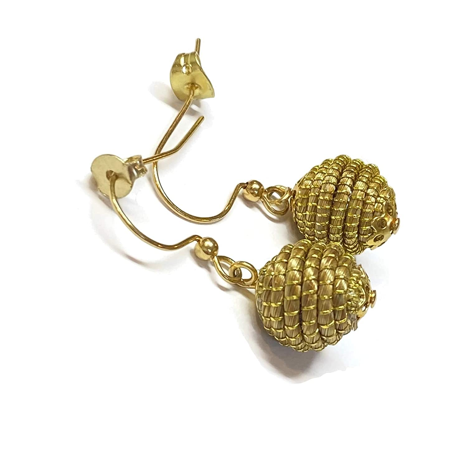 Handmade Super popular specialty store Drop and Dangle Beads Now free shipping Golden Earrings For Grass a Women