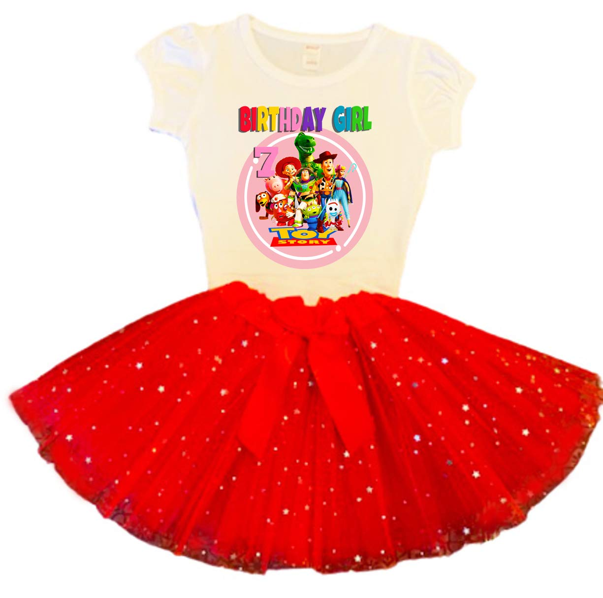Toy Story Birthday Bargain Tutu 7th Dress Red Outfit trend rank Party