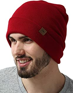 Winter Beanie Knit Hats for Men & Women - Warm, Stretchy & Soft Daily Ribbed Toboggan Cap