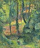 JH Lacrocon Paul Gauguin - Bosque Interior Sous-Bois Reproducción Cuadro sobre Lienzo Enrollado 50X60 cm - Pinturas Paisaje Impresións Decoración Muro