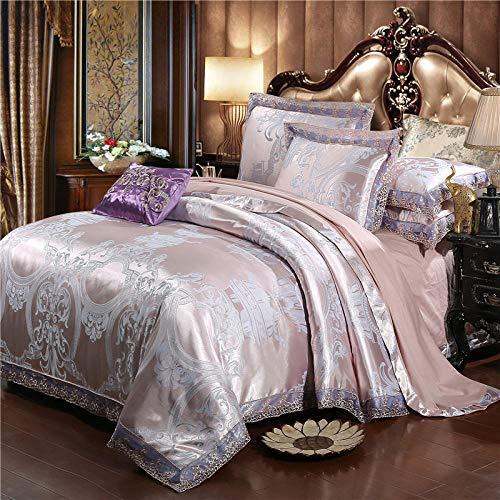 funda de edredón 135,EUROPEO TIANSI Algodón Satin Jacquard Cuatro sets, algodón se utiliza para la cama de la cama de 1,8 m de la cama, usado en el hotel familiar Habitación infantil Día de la madre