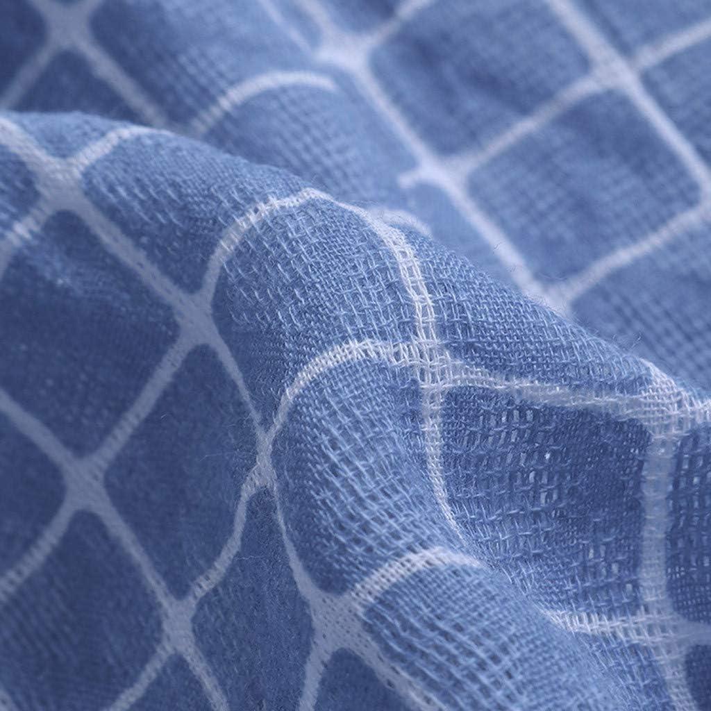 Jumaocio Women V Neck Short Sleeve Hi-Low Hemline Cotton Linen Blouse Tops