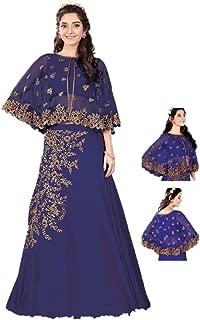 Ethnicwear Designer Jacket Style Indowestern Reception Party Wear Indian Georgett Silk Zari Sequence Lehenga Choli
