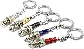 3D Miniature Spark Plug Style Keychain (Silver)