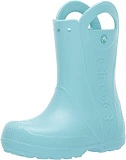 Crocs Unisex-Child Boys - Handle It Rain Boot Blue Size: