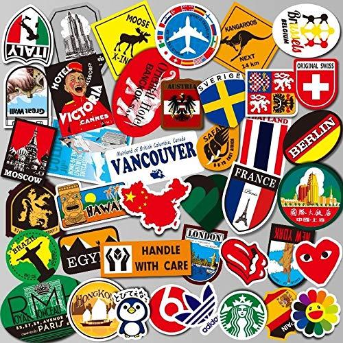Tide Cool Koffer Stickers Persoonlijkheid Getij Merk Trolley Case Stickers Waterdichte Skateboard Tassen Stickers Zuid-Korea Reizen Koffers