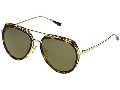 DIFF Eyewear Leighton (Dark Tortoise/Gold) Fashion Sunglasses