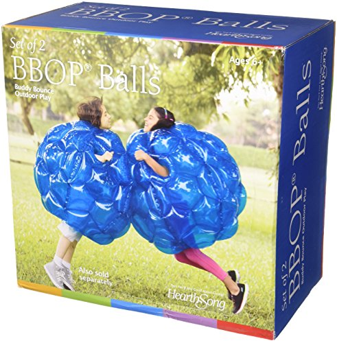 HearthSong Set of Two 36' Blue Inflatable Buddy Bumper Wearable Balls, Holds Up to 200 lbs.