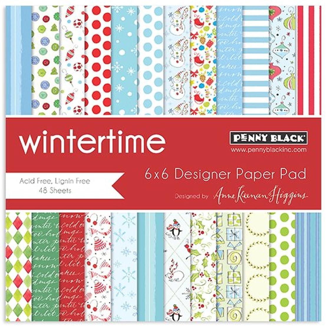 Penny Black 80-012 Wintertime Paper Pad, 6 x 6
