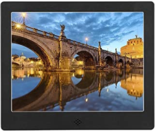 Digital Picture Frame, Electric Photo Frames with 8 Inch IPS Screen HD Picture Album Support MP3 MP4 Video Player Clock Ca...