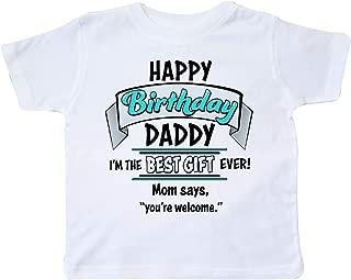 Happy Birthday, Daddy in Blue Toddler T-Shirt