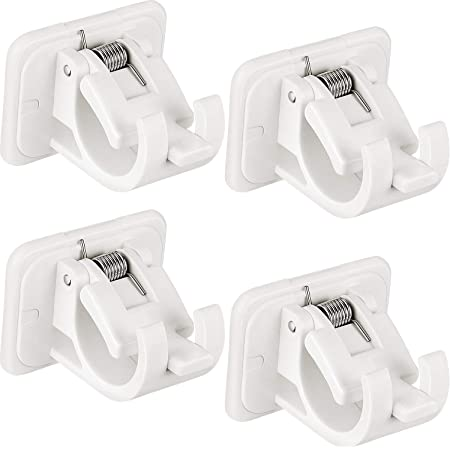 Voile 2//8Pcs Wall Hooks Drapery Hook Holders Curtain Pole Garden Decoration Party Decor Fixings Rod Holder for Hanging Net Curtain FANFA Adhesive Curtain Rod Bracket