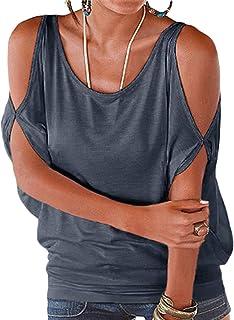 YOINS Mujer Camiseta Sin Mangas Chaleco Manga Corta Chaleco Sin Hombros Chaleco Casual con Cordones Chaleco Deportivo Mini...