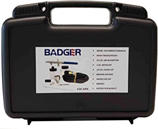 Badger Air-Brush Co 150-4-PK Professional Airbrush Set in Sturdy Plastic Tool Box