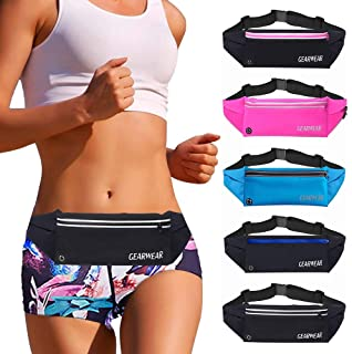 GEARWEAR Running Belt Waist Pack Fanny Bag for iPhone 7 8 Plus X Holder Cell Phone Holder Pouch for Workout Sports Walking...