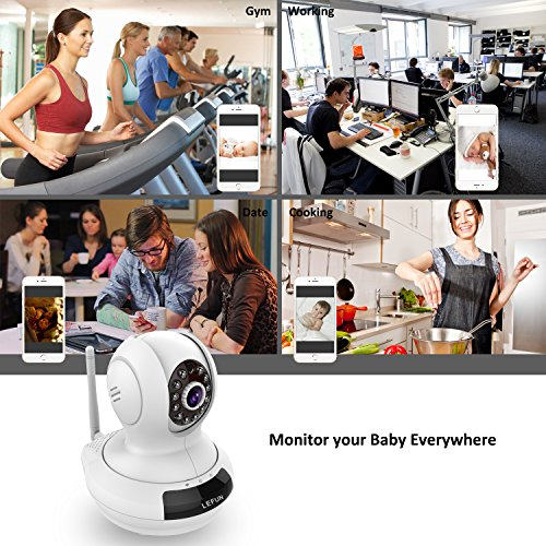 LeFun WiFi Camera, Wireless Surveillance IP Camera Nanny Cam Baby Monitor Provides Pan Tilt Zoom Motion Detect Two Way Audio Night Vision Support 2.4G WiFi and Echo Show