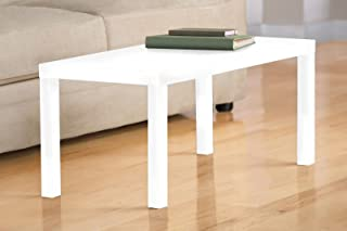 DHP Parsons Modern Coffee Table, White