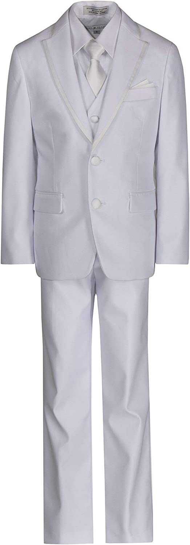 Tuxgear Boys Designer 2 Button Notch Tuxedo Suit with Bow Tie