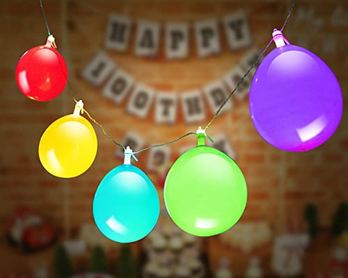 discount GIGALUMI LED Light Up Balloons String Lights, Premium Mixed-Colors popular Flashing Party String Lights, Battery Powered, Ideal wholesale for Parties, Birthdays and Wedding Decorations, Fillable with Helium, Air sale