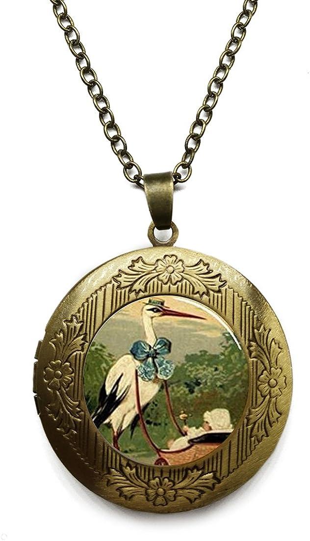 shop Vintage Bronze Tone Locket Picture Inclu Pendant Slayer Necklace Max 89% OFF
