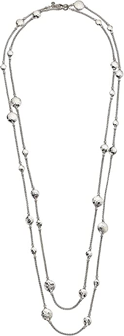Dot Hammered Disc Stations Sautoir Necklace