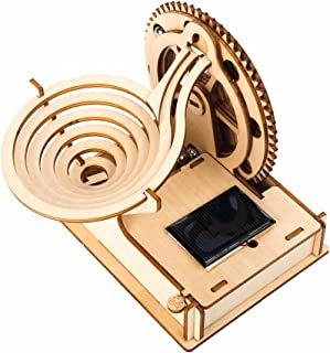 3D Wooden Puzzle Adult Marble Run Model Solar Power DIY Assembled Craft Kit Mechanical Gear Building Engineering Education...