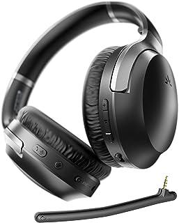 Avantree aptX-HD 24 Bit Hi-Fi Bluetooth 5.0 Active Noise Cancelling Headphones, Wireless Over Ear ANC Headset with Boom Mi...