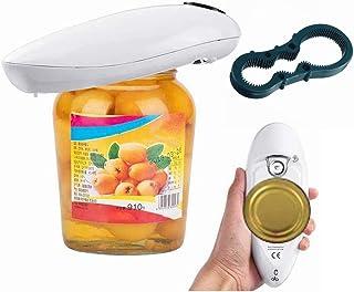 Abrelatas eléctrico profesional, abrelatas automático, con un botón, seguridad automática para personas mayores con artrit...