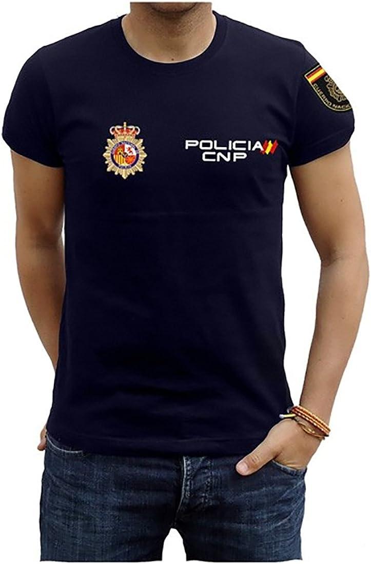 Piel Cabrera Camiseta de Policía Nacional: Amazon.es: Ropa y accesorios