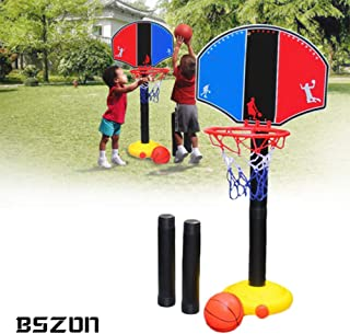 Kids Basketball Stand -Toddler Basketball Hoop - Indoor Outdoor Basketball Stand - Portable Indoor Outdoor Kids Adjustable Height Basketball Stand Toy for Boys & Girls Age 3 - 12 Years Old 20.47 inch