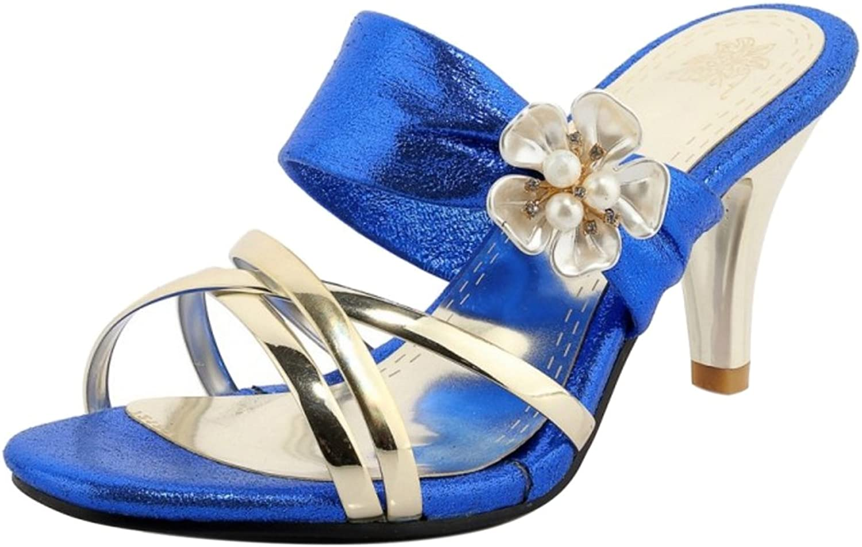 KemeKiss Women Slip On Heels Sandals
