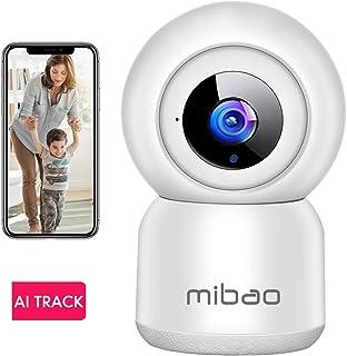 Cámara de Vigilancia WiFi Mibao 1080P Cámara IP Inalámbrica HD Visión Nocturna Detección de Movimiento Remoto Alerta de aplicación Audio Bidireccional Monitor para Bebé/Mascota/Tienda