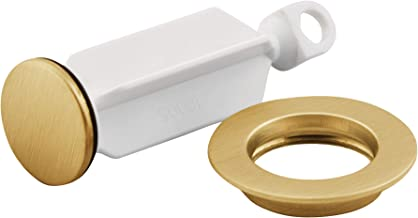 Moen 10709BG Collection Replacement Bathroom Sink Drain Plug and Seat, Brushed Gold (BG)