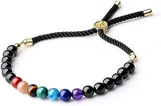 Women's Semi Precious Gems 7 Chakra Stone Bolo Bracelet