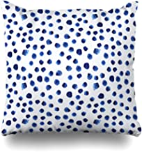 Decorativepillows Case Throw Pillows Covers for Couch/Bed 18 x 18 inch,Navy Paint Blue Watercolor Polka Dot Watercolour Brushstroke Sofa Cushion Cover Pillowcase Bed Car Living Home