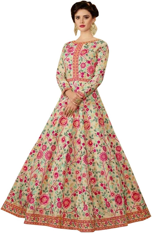 Indian Designer Collection Floral Heavy Anarkali Salwar Kameez suit Long Dress Party Wear 7318