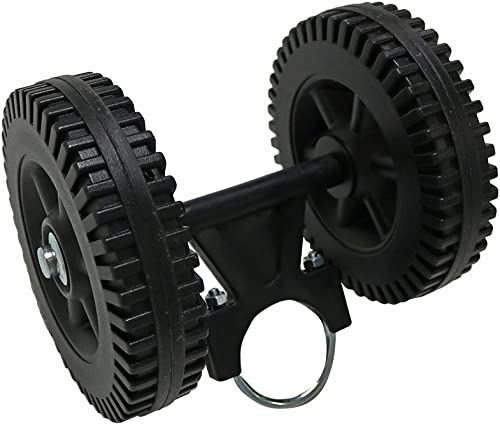 Sunnydaze Hammock Stand Mobile Wheel Kit - Portable & Heavy-Duty Design - Black