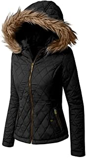 Hashoob Women Ladies Puffer Jacket Quilted Parka Coat BF-02