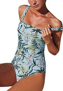dfc5b74c55 XW_H Femme Maillots de Bain Elégant Amincissant Monokini Push Up Halter  Neck 1 Pièce épaules dénudées Floral Print Triangle Taille Haute Swimwear  Plage ...