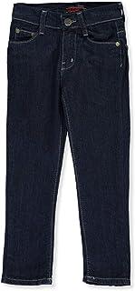 Chams Boys' Contrast Stitch Denim Jeans