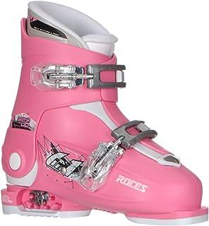 Roces Idea Up G Girls Ski Boots - 19-22/Deep Pink (2 Buckle)