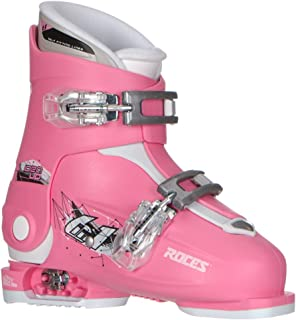 Roces Idea Up G Girls Ski Boots - 19-22/Deep Pink (2 Buckle)
