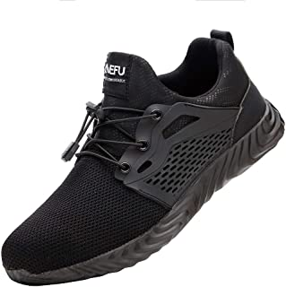 Unisex Adult Steel Toe Safety Trainers Lightweight Work Shoes Mens Women Breathable Industrial Sneakers Goosun Soft Mesh L...