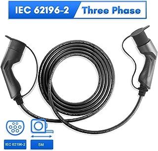 Morec 16A 11KW EV Cable Trifásico de Carga para Estación del Cargador EV Tipo 2 a Tipo 2, IEC 62196-2 5M